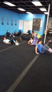 members working out